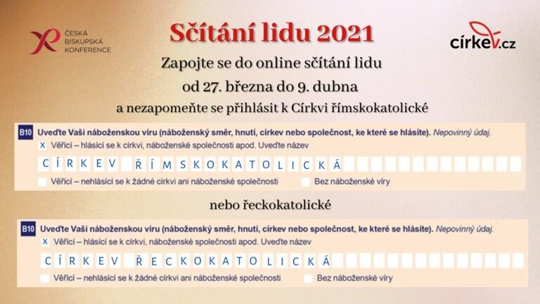 Výzva biskupů ke sčítání lidu 2021